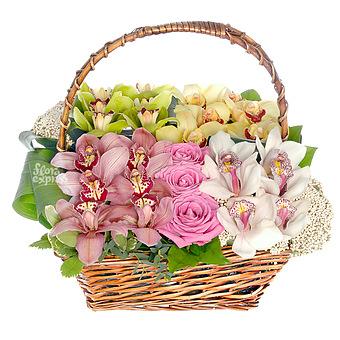 Букет Корзина «Fleurs de l'amour»