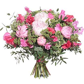 Букет Розовый сюрприз: Пионы
