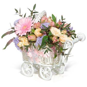 Букет АЗ: Розы и герберы