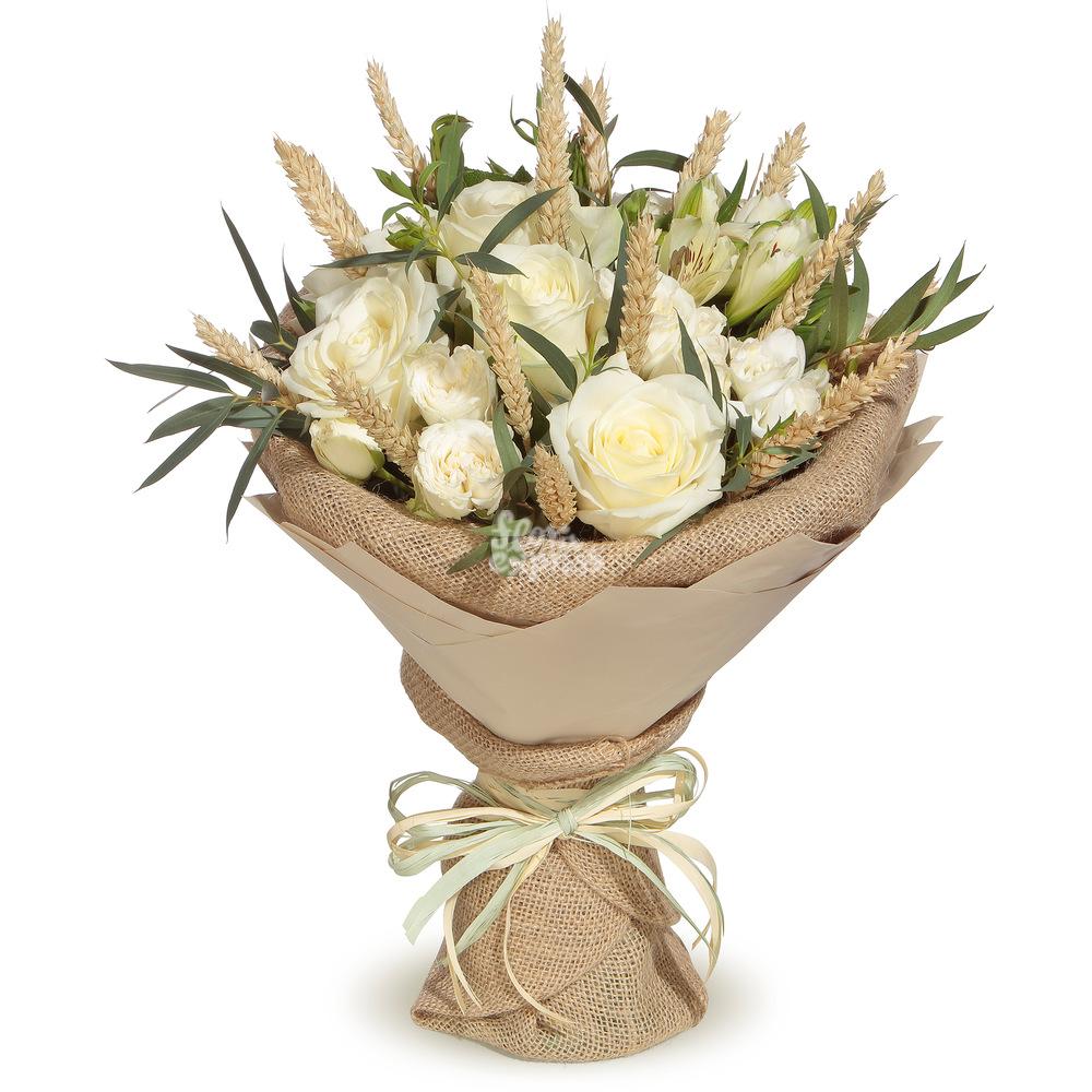 Букет «Flora Express» Розы и колоски фото